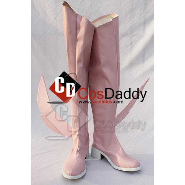 Puella Magi Madoka Magica kaname Madoka Cosplay Boots Shoes