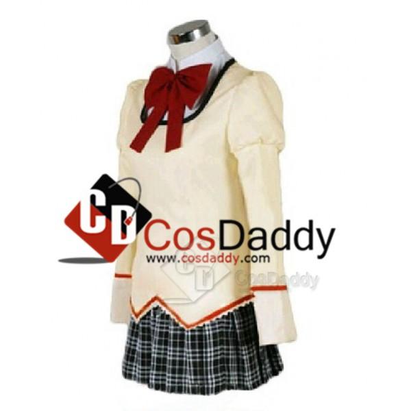 Puella Magi Madoka Magica School Uniform Dress Outfit Cosplay Costume