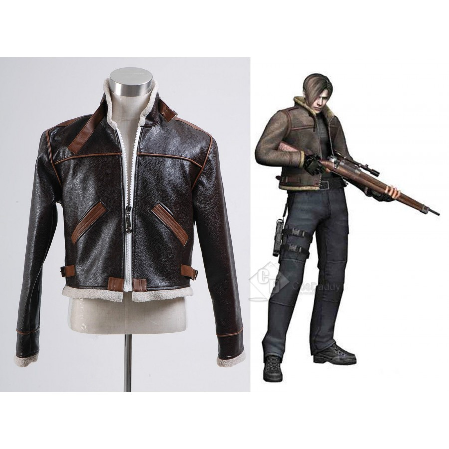 Resident Evil 4 Leon Kennedy Jacket Pants Cosplay Costume