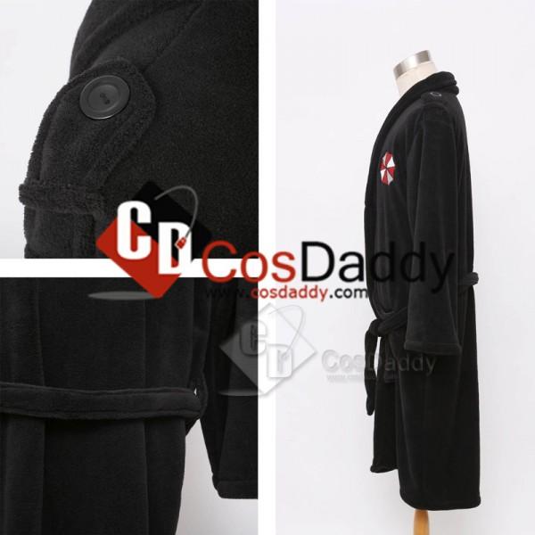 Resident Evil Biohazard Umbrella Corporation Black Bath Robe