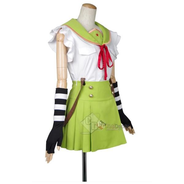School-Live Gakkō Gurash Ebisuzawa Kurumi Uniform Cosplay Costume