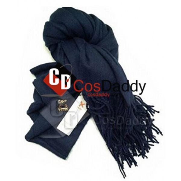 Sherlock Holmes Long Blue Wool Scarf