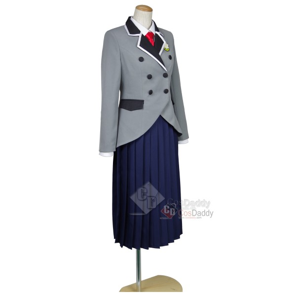 Shimoneta: A Boring World Where the Concept of Dirty Jokes Doesn't Exist Hyouka Fuwa School Uniform White Gown Cosplay Costume