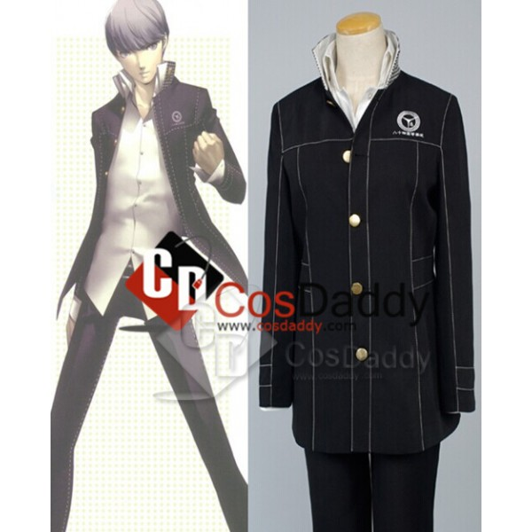 Shin Megami Tensei: Persona 4 P4 Cosplay Boy Unifo...