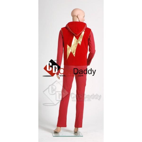 Smallville Bart Allen Impulse the Flash Halloween Cosplay Costume