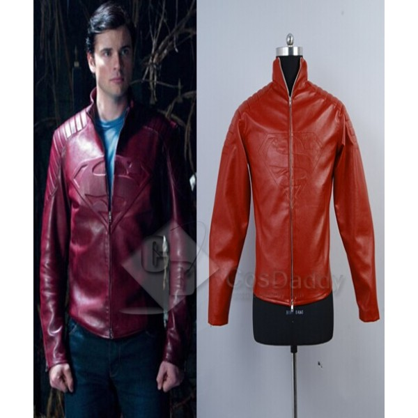 Smallville Clark Kent Red Leather Jacket Cosplay Costume