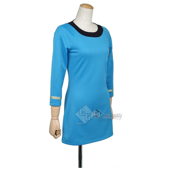 Star Trek The Original Series Female Duty TOS Blue Dress Cosplay Costume