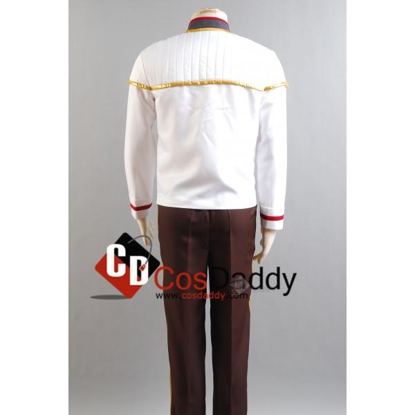 Star Trek TNG Insurrection Nemesis White-Gold Mess Dress Uniform Cosplay Costume