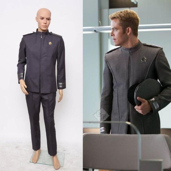 Star Trek Into Darkness Captain Kirk Spock Grey Uniform Cosplay Costume