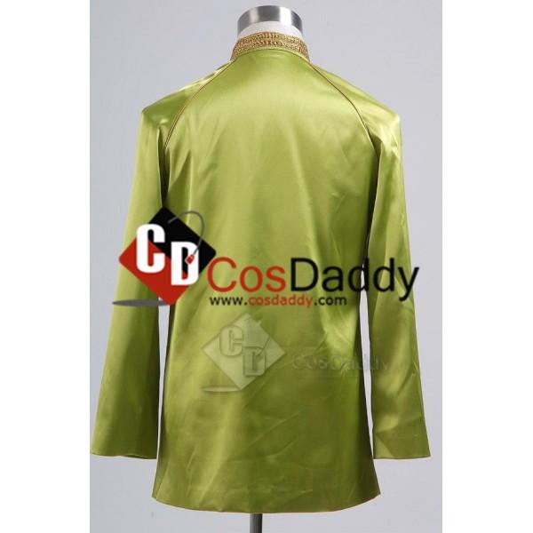 Star Trek TOS the Original Series  Jame Kirk Green Satin Jacket Uniform