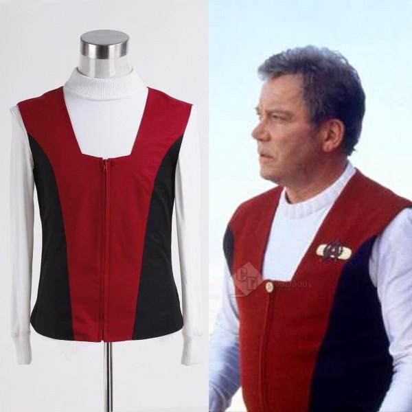 Star Trek TNG Generations Captain Kirk Shirt Vest Uniform  Costume