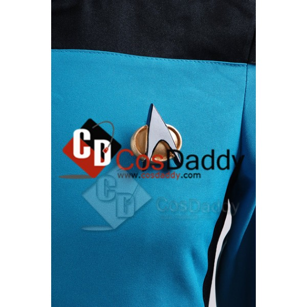 Star Trek TNG The Next Generation Medical Science Uniform Teal Jumpsuit