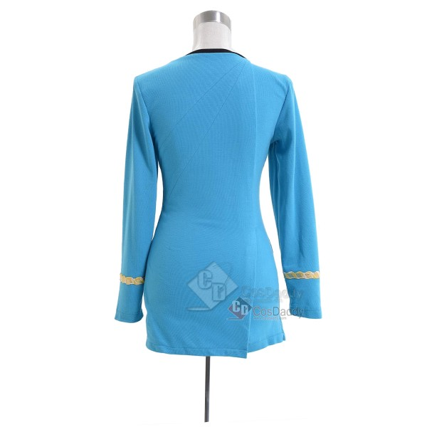 Star Trek The Original Series Female Duty Uniform Blue Dress Cosplay Costume