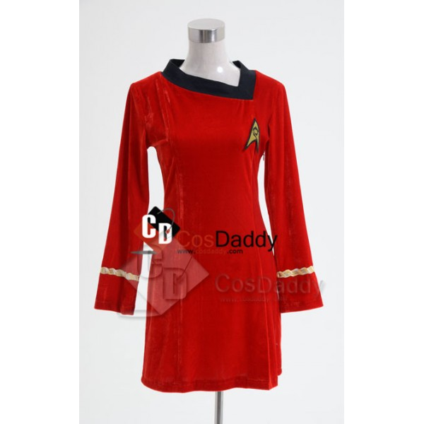 Star Trek TOS The Original  Duty Uniform Red Velve...