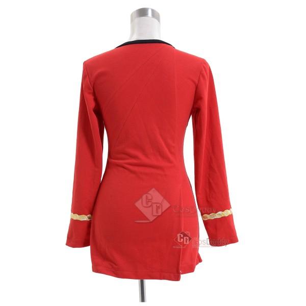 Star Trek The Original Series Female Duty Uniform Red Dress Cosplay Costume