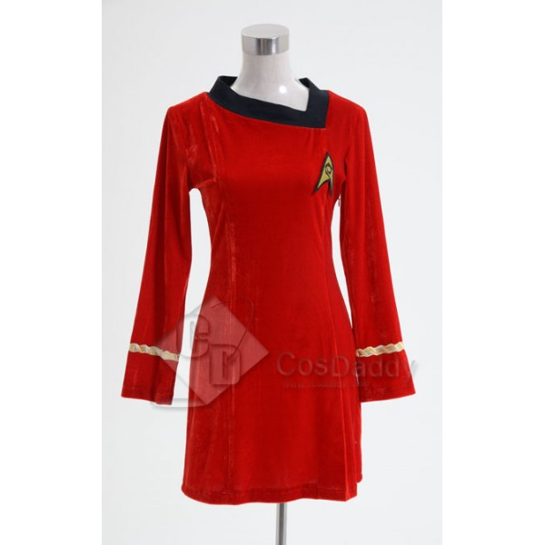 Star Trek TOS The Original  Duty Uniform Red Velvet Dress