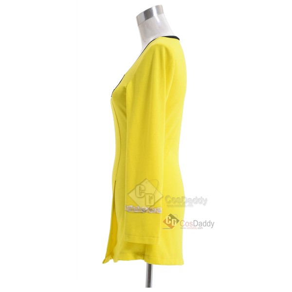 Star Trek The Original Series The Female Duty Uniform Yellow Dress Cosplay Costume