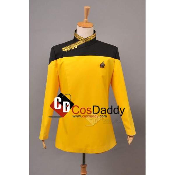 Star Trek TNG the next Generation Yellow  Dress Un...