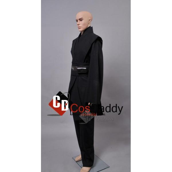 Star Wars Anakin Jedi Tunic Black Cosplay Costume