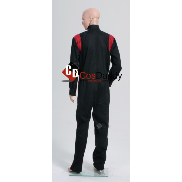 Star Wars Imperial Tie Fighter Pilot Black Flightsuit Jumpsuit B Cosplay Costume