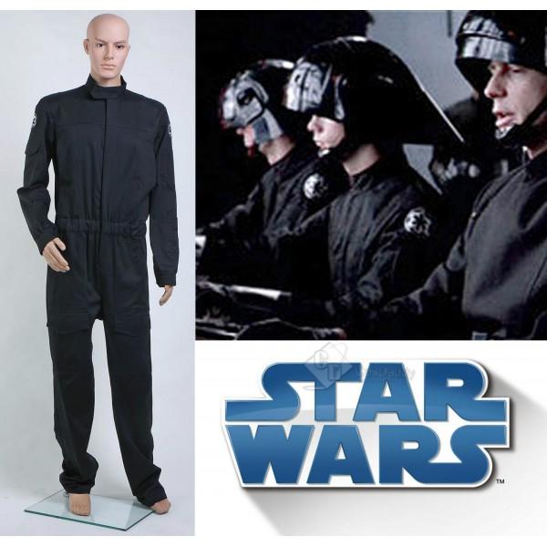 Star Wars Imperial Tie Fighter Pilot Black Flightsuit Jumpsuit Cosplay Costume