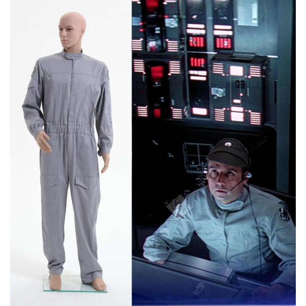 Star Wars Imperial Technician AT ST Flightsuit Jumpsuit Cosplay Costume