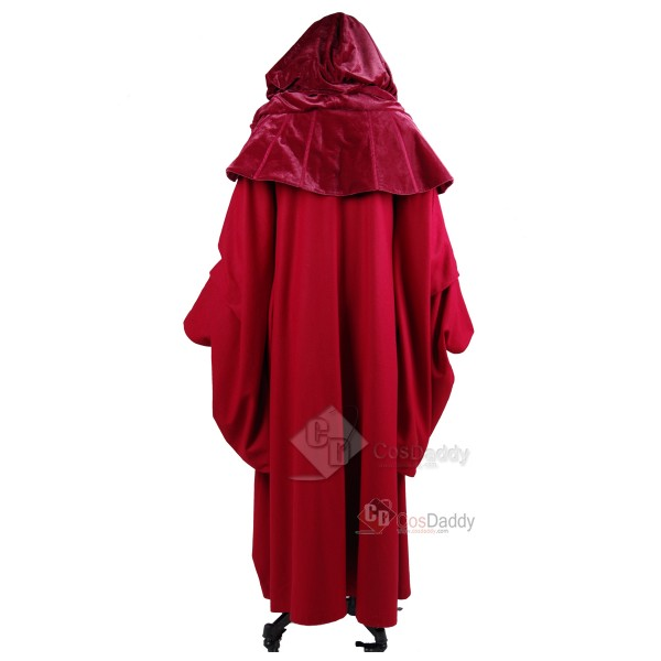 Star Wars Palpatine Red Robe Cosplay Costume