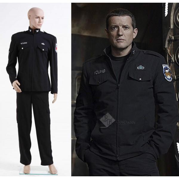 Stargate Universe SGU Black Uniform Jacket Pants Cosplay Costume