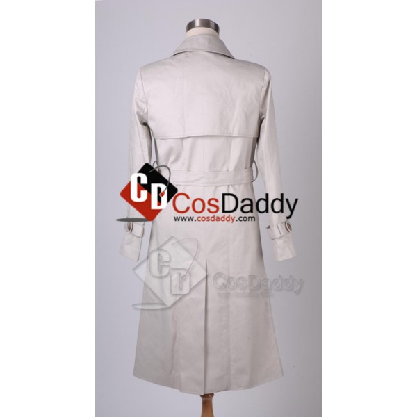 Supernatural Castiel Twill Trench Coat Cosplay Costume