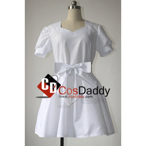 Sword Art Online Ai Yui White Dress Cosplay Costum...