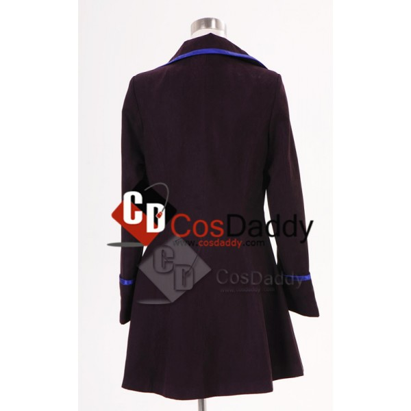 Syfy Miniseries Alice in Wonderland Alice Long Purple Coat Cosplay Costume