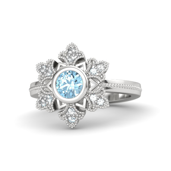 Frozen Snow Queen Elsa Staring Sliver Ring