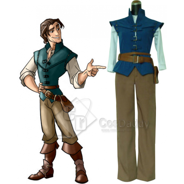 Tangled Prince Flynn Rider Cosplay Costume