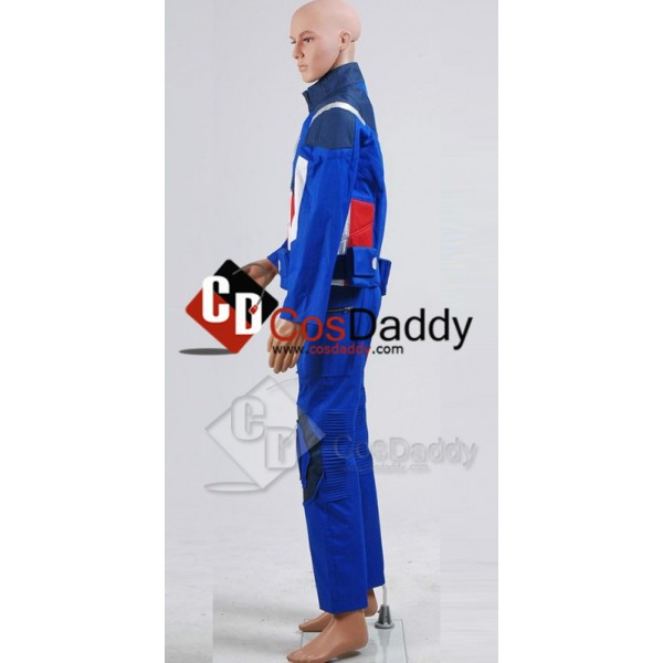 The Avengers NEW Captain America Jacket Pants Cosplay Costume