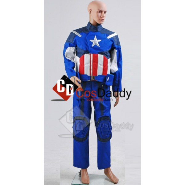 The Avengers NEW Captain America Jacket Pants Cosp...