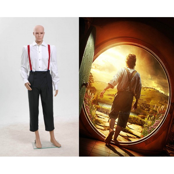 The Hobbit Lord of the Rings Bilbo Baggins Cosplay Costume