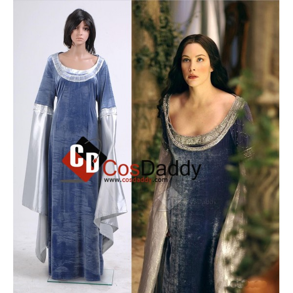 The Lord of the Rings Arwen Traveling Dress Cospla...