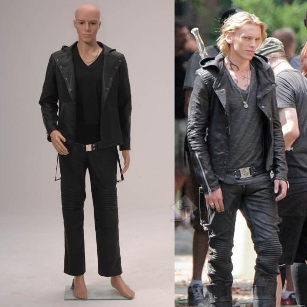 The Mortal Instruments: City of Bones Jace Wayland Black Jacket Cosplay Costume