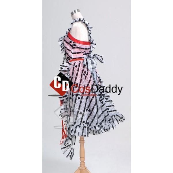 Tim Burton Alice In Wonderland Alice Red Court Um Dress Cosplay Costume