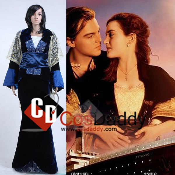 Titanic Rose Flying Dress Cosplay Costume Victoria...