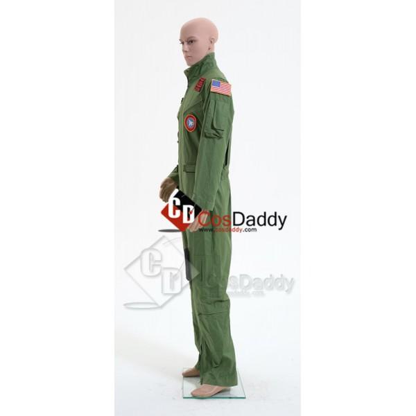 Top Gun Maverick Pete Mitchell Flight Suit Mens Jumpsuit Cosplay Costume