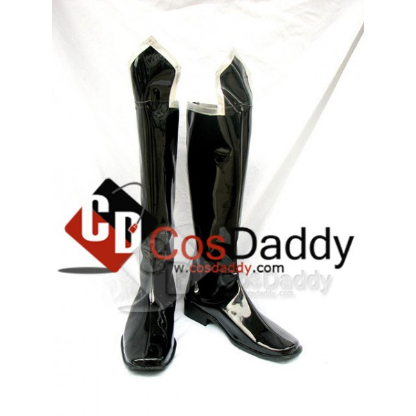 Trinity Blood Black Cosplay Boots Shoes Custom Made