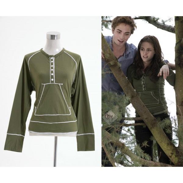 Twilight Bella Swan Vert kangourou Henley Shirt Cosplay Costume