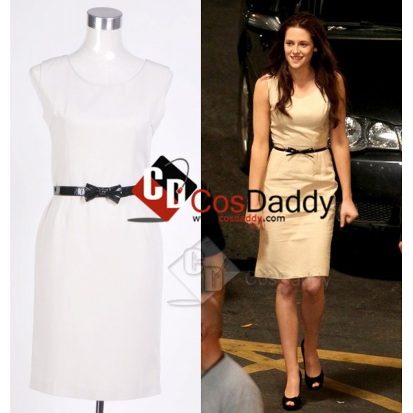 Twilight Breaking Dawn Bella Beige Dress Cosplay Costume