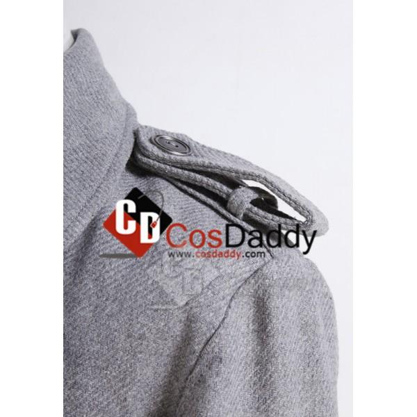 Twilight Edward Cullen Grey Pea Coat Cosplay Costume