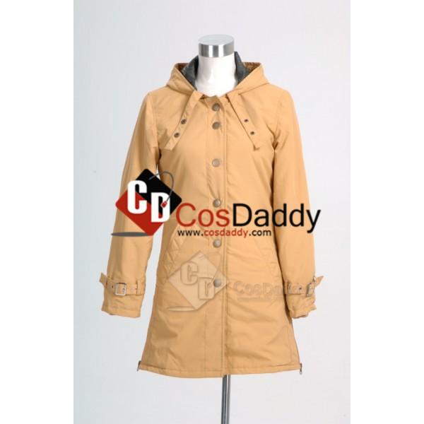 Twilight New Moon Bella Tan Long Coat Jacket Cosplay Costume