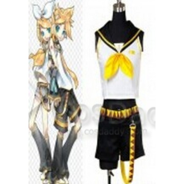 Vocaloid 2 Rin Kagamine Girl Cosplay Costume