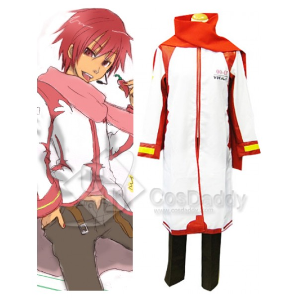 Vocaloid Akaito Red & White Cosplay Costume