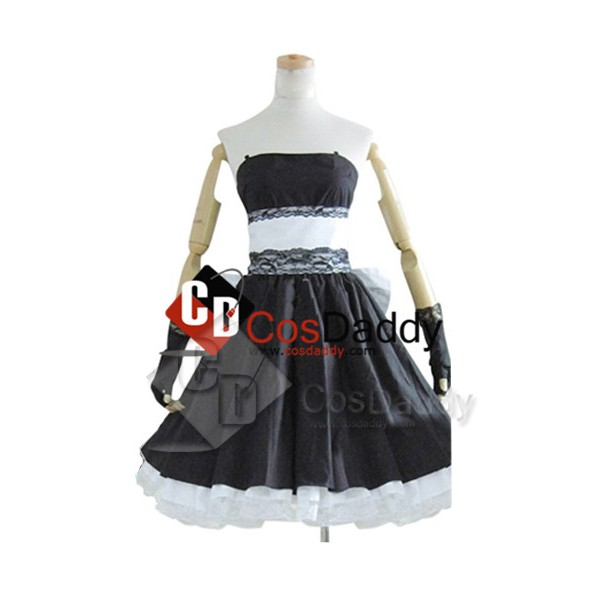 Vocaloid Hatsune Miku Black Dress Cosplay Costume