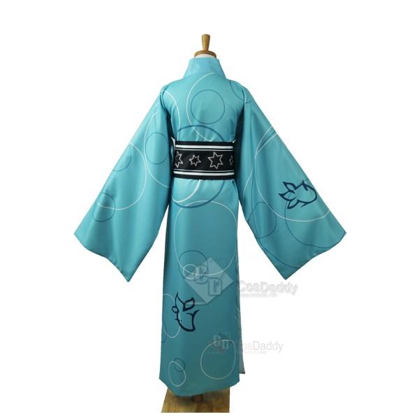 Vocaloid Hatsune Miku Project Diva-F Kaito Bathrobe Kimono Cosplay Costume